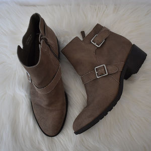 Cole Haan Suede Booties Side Buckle Size 9